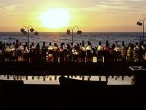 在海滩巴亚尔塔港墨西哥的酒吧 免版税图库摄影