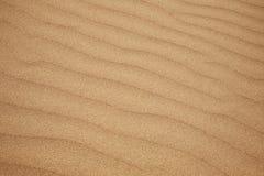 在海滩沙子的波纹 免版税库存图片
