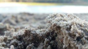 在海滩的一些沙子 免版税库存照片