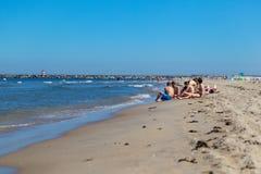 在海滩的一天在海牙Netherland 免版税图库摄影