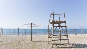 在海滩的不是一个季节 免版税图库摄影