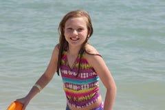 在海滩的乐趣 库存图片