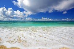 在海滩的夏令时 图库摄影
