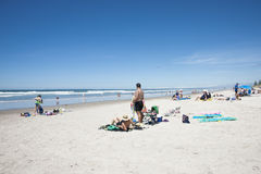 在海滩的夏天。 免版税库存照片