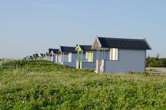 在海滩的小屋 库存照片