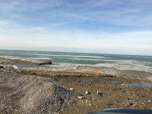 在海滩的岩石 图库摄影