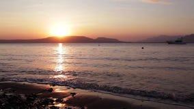 在海滩的日出风景在巴厘岛 影视素材