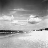 在海滩的有效的重新创建 图库摄影