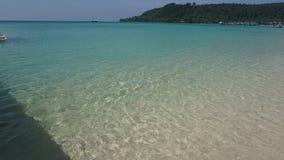 在海滩的水蓝色 图库摄影