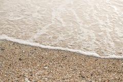 在海滩的沙子早晨 免版税库存照片