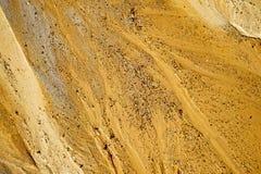 在海滩的沙子纹理 免版税库存照片