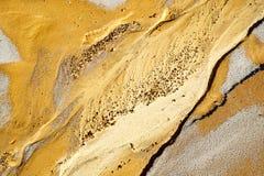 在海滩的沙子纹理 免版税库存图片