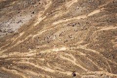 在海滩的沙子纹理 库存图片