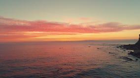 在海滩的热带日出 Cloudscape和海 股票视频