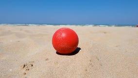 在海滩的球 股票录像