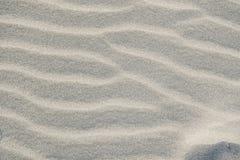 在海滩的白色沙子 免版税库存图片
