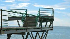 在海滩的码头 影视素材