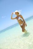 在海滩的秀丽 免版税库存照片