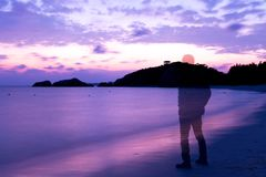 在海滩的记忆 免版税图库摄影