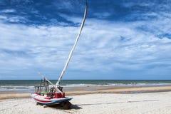 在海滩的Jangada 免版税图库摄影