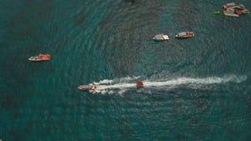 在海滩胜地的海吸引力 博拉凯海岛菲律宾 库存图片