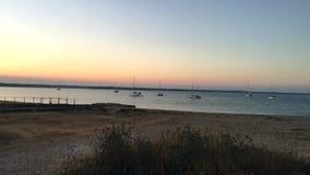 在海滩附近的灯塔 股票录像