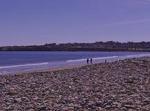 在海滩3494的家庭 免版税库存照片
