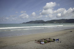 在海滩 免版税库存图片