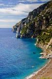 在海滩positano之上 库存图片