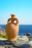 在海的一个油罐 免版税库存图片