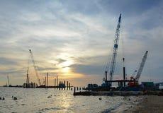 在海的一个建造场所在Phu Quoc,越南 图库摄影