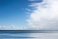 在海的伟大的云彩 免版税图库摄影