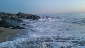 在海的冬天 免版税库存图片
