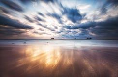 在海的剧烈的cloudscape 免版税库存照片