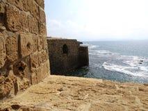 在海的堡垒 图库摄影