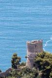 在海的塔 库存图片