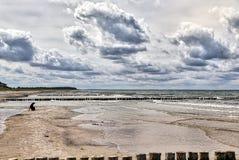 在海的多暴风雨的天气 库存图片