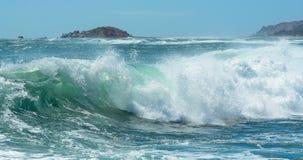 在海的大波浪 库存图片