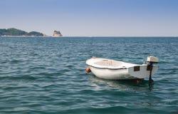 在海的小船 图库摄影
