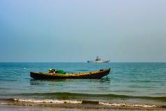 2在海的小船 库存图片