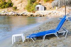在海的岸的帐篷 库存照片