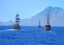 在海的帆船 库存图片