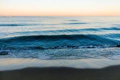 在海的日出在意大利 库存照片
