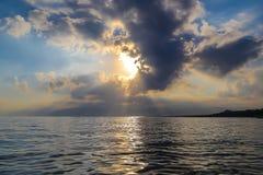在海的早晨 免版税库存图片