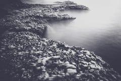 在海的早晨 库存图片