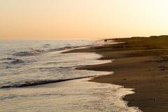 在海的晚上心情 免版税库存照片