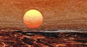 在海的晚上 ?? r o r : 免版税图库摄影