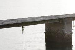 在海的栈桥 库存图片