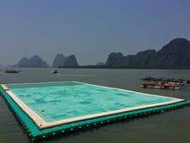 在海的橄榄球场在泰国 库存照片