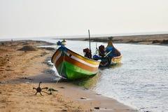 在海的渔船钓鱼死水的地方 图库摄影